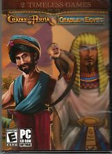 CRADLE OF EGYPT + CRADLE OF PERSIA Strategy & Match 3 PC Game CD-ROM NEW