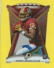 2012 TOPPS PLATINUM DIE CUT #RG ROBERT GRIFFIN III ROOKIE FOOTBALL CARD