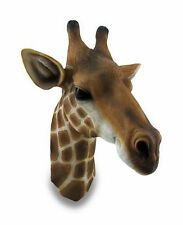 African Tall Giraffe Head Bust Hanging Wall Mount Home Decor Collection Statue