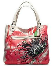 COACH POPPY PLACED FLOWER GALM TOTE BAG PURSE 19029--NEW