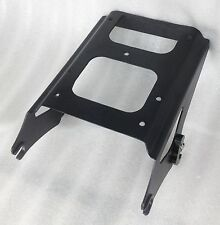 Black Detachable Two Up Tour Pak Pack Mounting Rack for Harley Touring 2009-2013