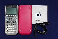 Pink TI-84 Plus Silver Edition Graphic Calculator Texas Instruments CD USB TI84