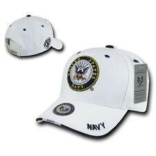 White United States US Navy USN Logo Military Embroidered Baseball Ball Cap Hat