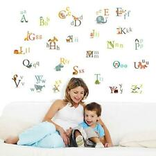 Animal Letter Wall Stickers Removable Art Decals Mural for Kid's Baby Room