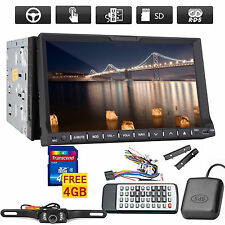 "7"" DASH GPS NAVI CAR STEREO CD DVD PLAYER PIP IPOD BT RADIO+MAP+BACK UP CAMERA"