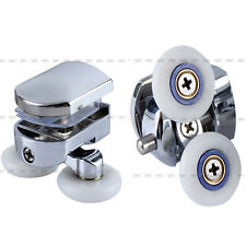New 2pcs Twin Bottom Zinc Alloy Shower Door Rollers Runners Wheels 26mm Wheel