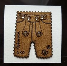 Swarovski,  Leather Stamp ( Lederhose ) with Swarovski Crystals, Lim-Ed.