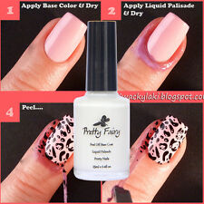 PRETTY FAIRY 15ml Nail Art Peel Off Palisade BaseCoat Liquid Tape Polish Clean
