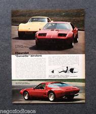 BE17 - Clipping-Ritaglio -1973- AUTONOTIZIE , CHEVROLET CORVETTE BIROTORE