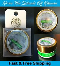 GARDENIA SOLID PERFUME JAR, .45 Oz, Forever Florals of Hawaii, New, Free Ship