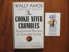 "WALLY  AMOS  Signed Book(""THE COOKIE  NEVER CRUMBLES""-2001 1st Edition Hardback)"
