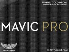 DJI Mavic Pro White & Gold Window / Case Decal Sticker FPV Quadcopter UAV Drone