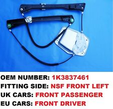 GOLF MK5 V WINDOW REGULATOR WITH PANEL FRONT LEFT UK PASSENGER SIDE 2 DOOR ONLY
