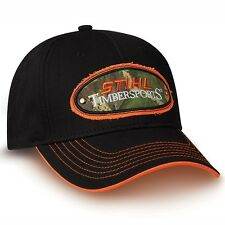 STIHL Chainsaws *BLACK TIMBERSPORTS PATCH* LOGO HAT CAP *BRAND NEW!* ST12