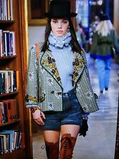 CHANEL Pre Fall 2015 PARIS-SALZBURG NEW Embroidered SHORTS CC BUTTONS FR38 $3.2K