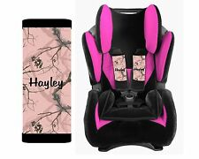 PERSONALIZED BABY TODDLER  CAR SEAT STRAP COVERS PINK TREE CAMO