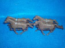 Classic Toy Soldiers Wagon,Stagecoach double, 4 Brown horses+ hitchs for Marx