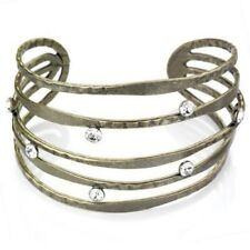 Belly Dance Burnished Gold & Crystal Egyptian Cleopatra Spartan Cage Cuff Bangle