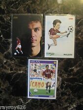 AC MILAN- MALDINI SOCCER CARD-1992 SCORE-ITALY *TOP DEFENDER*LOT OF 3