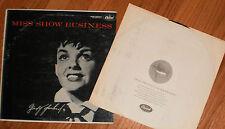 JUDY GARLAND Miss Show Business LP Original Capitol 1955 Hi-Fi First Issue