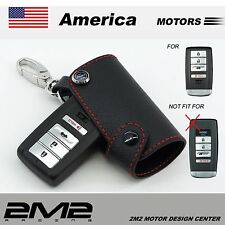 Leather Key Fob Holder Case Chain Cover fit For 2015 ACURA  ILX TLX RLX RDX MDX