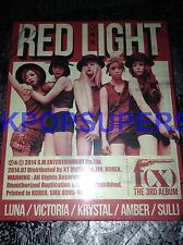 f(x) Vol. 3 Red Light Version B Wild Cats CD NEW Sealed Photocard Sticker Rare