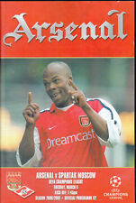 2000/01 ARSENAL V SPARTAK MOSCOW 06-03-2001 Champions League