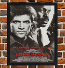 Framed Lethal Weapon Movie Poster A4 / A3 Size In Black / White Frame