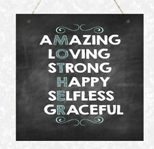 Wooden Plaque Mum Loving Amazing Mothers Day Gift Present Home Sign Mother Mummy