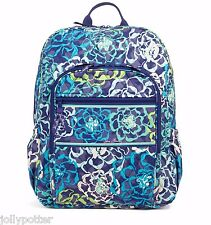VERA BRADLEY Campus Backpack KATALINA BLUES Large Bag Travel School $109