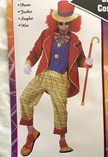 Mens Clown On The Town Circus Funny Party Fancy Dress Adult Costume