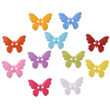 20 x Assorted Plastic Butterfly Buttons - 17mm x 22mm Sewing Dressmaking Craft