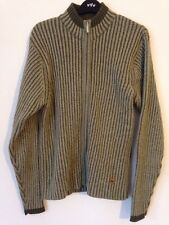 Quiksilver Green Men's Zip Wool Blend Cardigan Size S