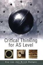 Roy van den Brink-Budgen - Critical Thinking For AS Level (Excellent Condition)