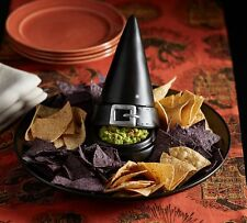 POTTERY BARN WITCH HAT CHIP AND DIP SERVING DISH HALLOWEEN~Scary Good