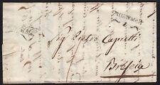 PREFILATELICA LOMBARDO VENETO 1835 da Milano a Brescia