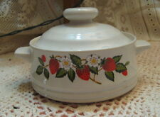 Sheffield Strawberries 'n Cream Stoneware Collection Individual Baker With Lid