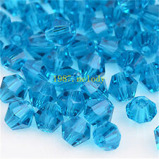 100pcs dark blue exquisite Glass Crystal 4mm #5301 Bicone Beads loose beads!