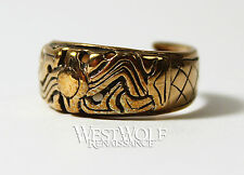 Bronze Viking Ring - Borre Art -- Norse/Norway/Medieval/Jewelry/Ragnar/8/9/10/11