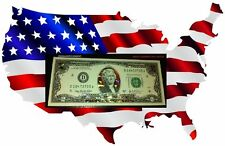 22 K GOLD $ 2 DOLLAR BILL HOLOGRAM COLORIZED   $ 2 USA NOTE LEGAL CURRENCY NOTES