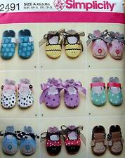 Simplicity  Sewing Pattern 2491 Baby Shoes  Uncut