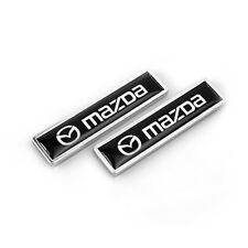 1Pair Car emblem Fender badge sticker Accessories Fit for Mazda  2 3 5 6 Axela