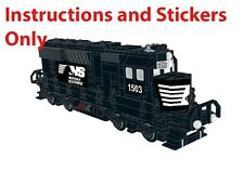 Instructions Stickers Norfolk Southern Engine LEGO Train Locomotive Hopper Car