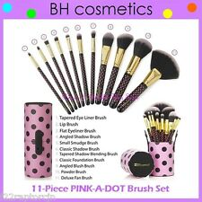 NEW BH Cosmetics 11-Piece PINK-A-DOT Brush Set w/Cup Holder FREE SHIPPING Polka