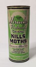 Miracle Perfumed Crystals kills moths container Sterling Labs St. Louis, MO USA