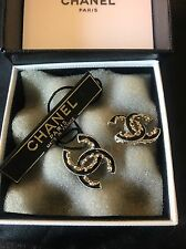 Authentic EUC Chanel Baroque Enamel Stud Earrings SOLD OUT
