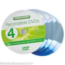 4 Pack Dvd-r 4.7gb (120 Mins) - Recordable Ideal For Audio Video Back-up Data