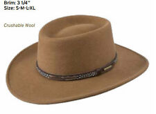 Stetson Water Repellent Crushable Hat - Kelso - Gambler Crown - Driftwood Size M