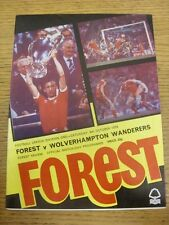 06/10/1979 Nottingham Forest v Wolverhampton Wanderers  (Token Removed). Any fau