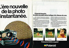 PUBLICITE ADVERTISING 025  1979  POLAROID   LAND CAMERA  5000   ( 2p)